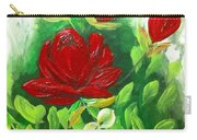 Red Roses From The Garden Carry-all Pouch