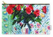 Red Roses In Water Carry-all Pouch