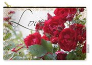 Red Roses Love And Lace Carry-all Pouch