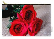 Red Roses On Lauhala Carry-all Pouch