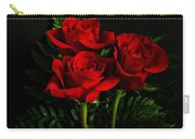 Red Roses Carry-all Pouch by Sandy Keeton