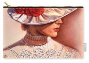 Red Roses Satin Hat Carry-all Pouch