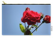 Red Roses With Blue Sky Background Carry-all Pouch