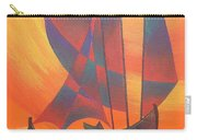 Red Sails In The Sunset Carry-all Pouch by Tracey Harrington-Simpson