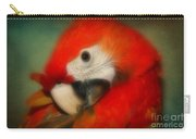 Red Scarlet   Macaw Parrot Sammy Carry-all Pouch