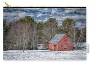 Red Shed In Maine Carry-all Pouch by Guy Whiteley