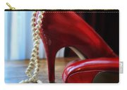 Red Shoes And Pearls Carry-all Pouch
