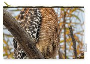 Red-shouldered Hawk In A Willow Tree Carry-all Pouch