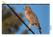Red-shouldered Hawk On A Wire Carry-all Pouch