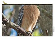 Red-shouldered Hawk On Branch Carry-all Pouch