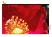 Red Shrub Rose Carry-all Pouch