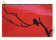 Red - Silhouette - Sunset Carry-all Pouch