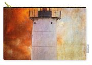 Red Sky At Morning - Nubble Lighthouse Carry-all Pouch by Lois Bryan