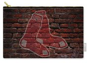Red Sox Baseball Graffiti On Brick  Carry-all Pouch