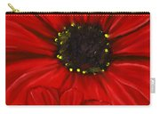 Red Spectacular- Red Gerbera Daisy Painting Carry-all Pouch
