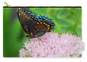 Red Spotted Admiral On Sedum - Vertical Carry-all Pouch