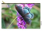 Red Spotted Purple Butterfly On Butterfly Bush Carry-all Pouch