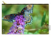 Red Spotted Purple Butterfly Photopainting Carry-all Pouch