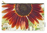 Red Sunflower Glow Carry-all Pouch by Kerri Mortenson