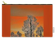Red Sunset With Trees Carry-all Pouch