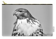 Red Tail Hawk Youth Black And White Carry-all Pouch