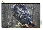 Red Tailed Hawk Perched On A Rock Carry-all Pouch
