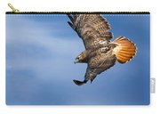 Red-tailed Hawk Soaring Square Carry-all Pouch