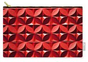 Red Textured Wall Carry-all Pouch