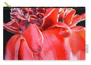 Red Torch Ginger On Black Carry-all Pouch