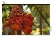 Red Torch Ginger Lily In Hawaii Carry-all Pouch