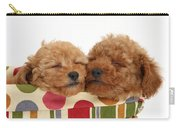 Red Toy Poodle Puppies Carry-all Pouch