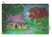 Red Tree Cottage At Dusk Carry-all Pouch