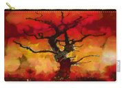 Red Tree Of Life Carry-all Pouch by Pixel Chimp