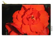 Red Tuberous Begonia Flower Carry-all Pouch
