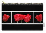 Red Tulip Triptych Carry-all Pouch