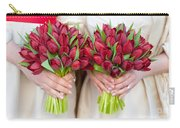 Red Tulip Weddding Bouquets Carry-all Pouch