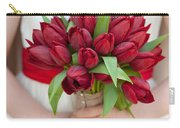 Red Tulip Wedding Bouquet Carry-all Pouch