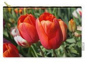 Red Tulips Flowers Pink Orange Tulip Flowers Carry-all Pouch