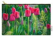 Red Tulips In Skagit Valley Carry-all Pouch by Inge Johnsson