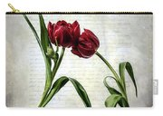 Red Tulips On A Letter Carry-all Pouch