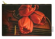 Red Tulips On A Violin Carry-all Pouch