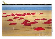 Red Umbrellas Carry-all Pouch by Carlos Caetano