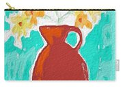 Red Vase Of Flowers Carry-all Pouch