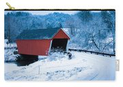Red Vermont Covered Bridge Carry-all Pouch