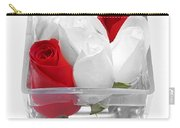 Red Versus White Roses Carry-all Pouch