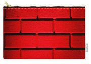 Red Wall Carry-all Pouch by Semmick Photo