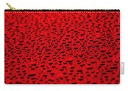 Red Water Drops On Water-repellent Surface Carry-all Pouch