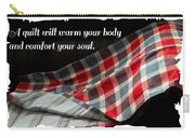 Red White And Blue Quilt With Quote Carry-all Pouch