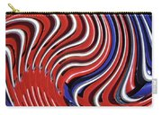 Red White And Blue Carry-all Pouch by Sarah Loft