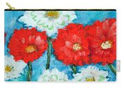 Red White And Blue Zinnia Flowers Carry-all Pouch